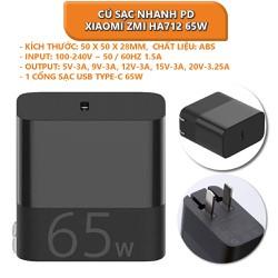 Củ sạc nhanh PD Xiaomi ZMI HA712 65W 1 cổng USB Type C - Shop Thế Giới Điện Máy