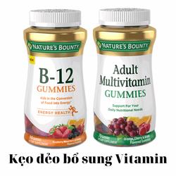 Siêu Sale Kẹo dẻo bổ sung Vitamin B12 Nature's Bounty B12 90 Gummies date 07/2021