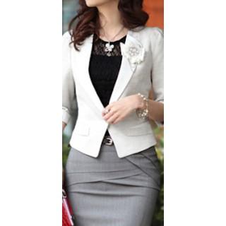 Áo khoác vest màu trắng [ĐƯỢC KIỂM HÀNG] 41929304 - 41929304 thumbnail
