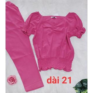 Bộ đũi loại 1 quần lửng 9 tấc - có túi - ẢNH THẬT-CHO XEM HÀNG - 016 thumbnail