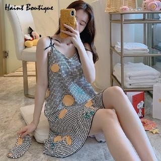 Đầm mặc nhà 2 dây Haint Boutique thiết kế đuôi cá kẻ nhỏ trẻ trung Vn07 - vn07 thumbnail