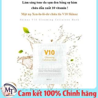 [1 Miếng] Nạ V10 Gleaming SKINAZ đắp mặt cao cấp 100% tự nhiên, trắng da, kiềm dầu, mịn da - Chính Hãng - SKINAZ - Nạ V10 thumbnail