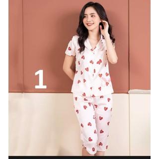 Bộ pijama LỤA HÀN cao cấp - Quần lững có túi - ẢNH THẬT-CHO XEM HÀNG - 034 thumbnail