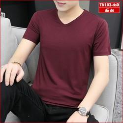 Áo phông nam trơn cổ tim TN103 nhiều màu sắc vải sợi tre tổng hợp trẻ trung phù hợp mọi giới tính