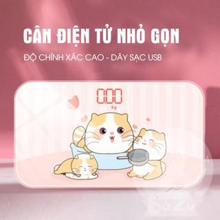 (Hàng có sẵn)Cân sức khỏe - Cân điện tử có thể sạc được (Ko cần mua pin) - CĐT thumbnail