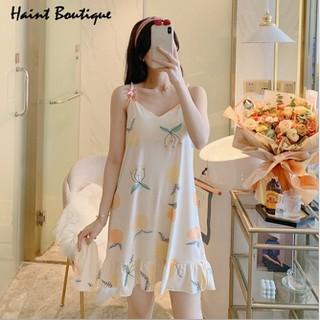 Đầm mặc nhà Haint Boutique thiết kế 2 dây họa tiết xinh thời trang trẻ VN01 - vn01 thumbnail