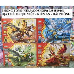 [Ảnh thật] Lắp ráp xếp hình LEGO NINJAGO SEASON 13 OBM 99727 : Set 4 bộ Ninja cưỡi rồng thần