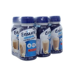 Lốc 6 chai sữa nước bột pha sẵn Ensure  Original vani 237ml