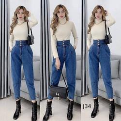 quần baggy nữ lưng cao