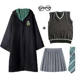 Trang phục Harry Potter gồm bộ áo quần áo choàng cà vạt chất vải đẹp dùng trong lễ hóa trang Halloween giá tốt - INTL