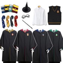 Harry Potter Cosplay, Quần Áo, Trang Phục Áo Choàng Gryffindor Nhà Slytherin Choàng Ma Thuật Đồng Phục Học Sinh Măng Tô