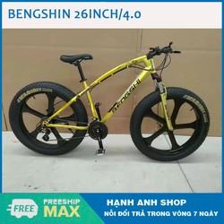 [ Hàng Chính Hãng ] Xe đạp thể thao Xe đạp leo núi bánh béo BENGSHI 26inch/4.0 Vành đúc - chất lượng cao - Nhập khẩu đài loan - Bảo hành 12 tháng
