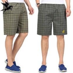 quần đùi nam mặc nhà vải mát mềm mặc thoải mái loại quần đùi nam caro thiêu con nai
