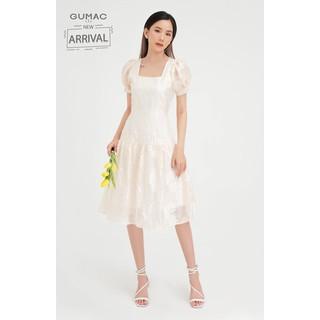 Đầm nữ cổ vuông nhún tùng form xèo tay phồng GUMAC DB4100 - DB4100 thumbnail