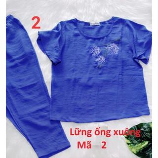 Bộ đũi loại 1 quần lửng 9 tấc - có túi - ẢNH THẬT-CHO XEM HÀNG - 081 thumbnail