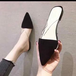giày sục mũi nhọn viền maca trong xuốt - 000093 thumbnail