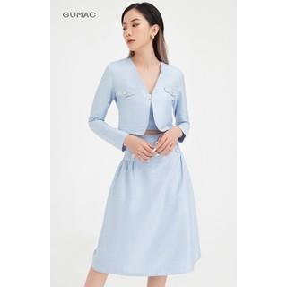 Chân váy nữ phối nút lưng liền hơi xòe GUMAC VB490 - VB490 thumbnail