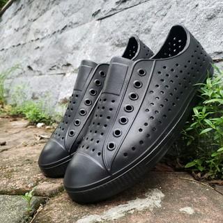 Giày lười nhựa nam đi mưa đi biển đi dạo phố - chất liệu nhựa Eva Phylon cao cấp, siêu nhẹ, siêu mềm, êm chân, không thấm nước chính hãng Urban Viet Nam-màu full đen - FĐSr7 thumbnail