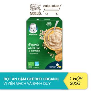 Bột ăn dặm Gerber Organic vị yến mạch và bánh quy (200g) - 12442968 thumbnail