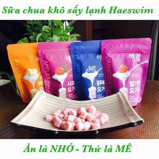 [Date7 2022] Sữa chua khô sấy lạnh Haeswim Hàn Quốc gói 16g đủ vị táo chuối dâu việt quất - 455 thumbnail