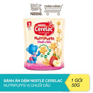 Bánh ăn dặm Nestlé Cerelac Nutripuffs vị chuối dâu - gói 50g - 12351603 thumbnail