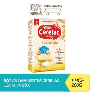 Bột ăn dặm Nestlé Cerelac - Lúa mì và sữa (200g) - 12421803 thumbnail