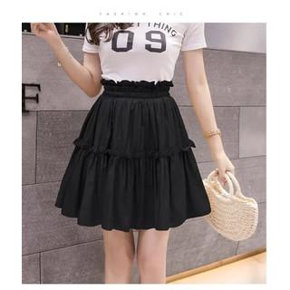 Chân váy xòe 2 tầng, váy ngắn nữ chất đũi kèm lót 2 màu đen, trắng [ Lỗi 1 đổi 1, được hỗ trợ đổi size nếu không vừa ] - Chân váy xòe thumbnail
