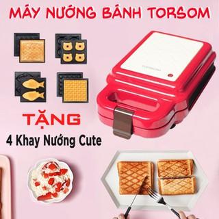 [ FREESHIP ] Máy Kẹp Nướng Bánh TorSom Nhật Bản Tặng 4 Khuôn Hình Thú Cute - Khuôn Chống Dính Hai Mặt - Máy Rán Trứng ,Làm Sandwwich , Bít Tết - GD_MAY_LAM_BANH_TORSOM_2 thumbnail