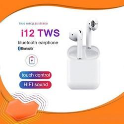 [ GIÁ SIÊU SỐC] Tai Nghe Bluetooth 5.0 i12 TWS [CẢM ỨNG VÂN TAY] (Màu trắng)