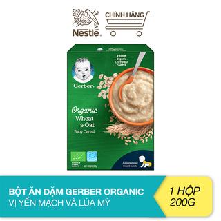 Bột ăn dặm Gerber Organic vị yến mạch và lúa mỳ (200g) - 12442969 thumbnail