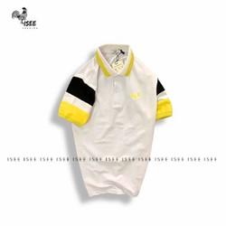 Áo polo nam cổ bẹ thêu logo tay áo 2 màu  riêng biệt