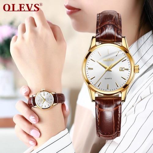 Đồng hồ nữ OLEVS chính hãng, chống nước , chống xước , dây da bò cao cấp