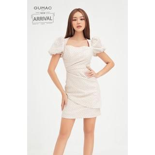 Đầm nữ tay phồng ly sườn cổ vuông form ôm GUMAC DB444 - DB444 thumbnail