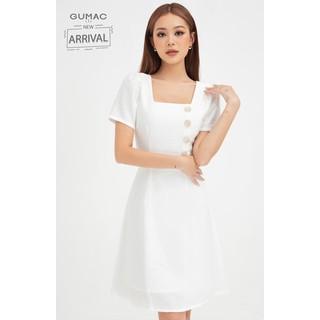 Đầm nữ cổ U phối nút xếp ly rã eo GUMAC DB429 - DB429 thumbnail