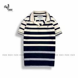 Áo  polo nam cổ bẻ sọc ngang vải cotton mịn nhiều màu ,chuẩn form, cao cấp