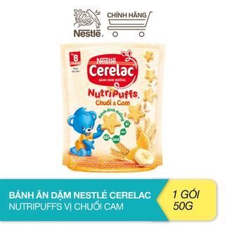 Bánh ăn dặm Nestlé Cerelac Nutripuffs vị chuối cam - gói 50g - 12351604 thumbnail