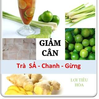 Trà Giảm Cân Sả Chanh Gừng - Giảm Cân, Giảm Mỡ, Giảm Eo - 50 túi lọc - gct thumbnail