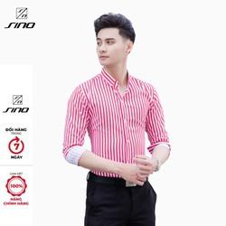 Áo Sơ Mi Nam SINO Dài Tay Thời Trang - Vải Lụa 3D Siêu Đẹp AD00008