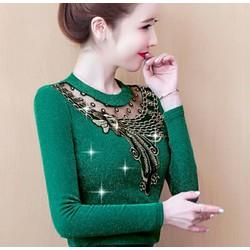 SALE RẼ áo kiểu nữ áo len dệt kim thời trang trung niên size 4XL