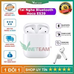 Tai nghe Bluetooth True Wireless Hoco ES39 Original series V5.0 - Kết nối tự động popup sử dụng từng tai riêng lẻ đỗi tên thiết bị nghe nhạc liên tục trong 3.5 giờ công nghệ Bluetooth 5.0 hỗ trợ sạc không dây âm thanh nổi 3D - dc4449