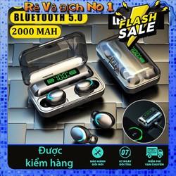 Tai nghe bluetooth Amoi F9 -5, Phiên bản tai nghe không dây nâng cấp của tai nghe F9, công nghệ cảm ứng, mở nắp tự kết nối, chống nước, chống ồn, âm thanh HD, kén sạc 2000 mAh kiêm sạc dự phòng