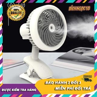 Quạt mini kẹp bàn có phun sương clipfan, sạc qua cổng usb, pin 18650, phun sương mạnh, điều chỉnh tốc độ, túc năng quay hướng gió - quạt clip fan thumbnail