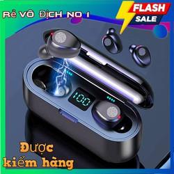 Tai nghe bluetooth F9 tai nghe không dây bluetooth 5.0 phiên bản quốc tế, âm thanh 9D chống nước, chống bụi, chống ồn dùng cho mọi điện thoại, nghe gọi rõ nét