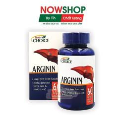 Viên uống hỗ trợ bảo vệ, cải thiện và tăng cường chức năng gan, phòng các bệnh về gan Daily Choice Arginin. Hộp 60 viên