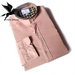 Áo sơ mi nam dài tay chất vải cotton dày mềm mịn kiểu dáng slimfit mặc vừa vặn BAO ĐẸP có nhiều size từ 45kg-85kg