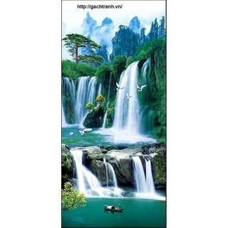 tranh gạch phong cảnh cá chép - 64AN [ĐƯỢC KIỂM HÀNG] 42226355 - 42226355 thumbnail