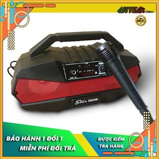 Loa bluetooth karaoke tặng kèm mic, loa bluetooth sing e, bluetooth 5.0, loa kép cho âm thanh vòm 360 độ, hõ trợ thẻ nhớ mở rộng, USB, AUX - Loa bluetooth karaoke Sing-e zqs4238 thumbnail