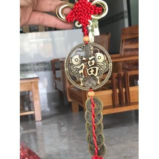 Dây Đồng Xu Ngũ Đế Kèm Đồng Xu Cặp Cá Chép Thu Hút May Mắn - DXNDKCC thumbnail