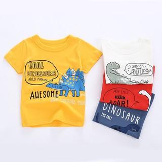 Áo bé trai khủng long cho bé in hình ngộ nghĩnh chất cotton hàng xuất Âu Mỹ - áo KL thumbnail