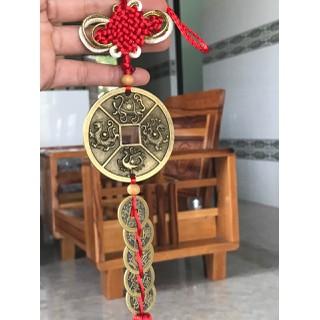 Dây Đồng Xu Ngũ Đế Kèm Đồng Xu Tứ Linh Thu Hút Tài Lộc, May Mắn - XNDKTL thumbnail